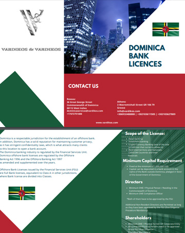Dominica Offshore Bank Licenses Requirements
