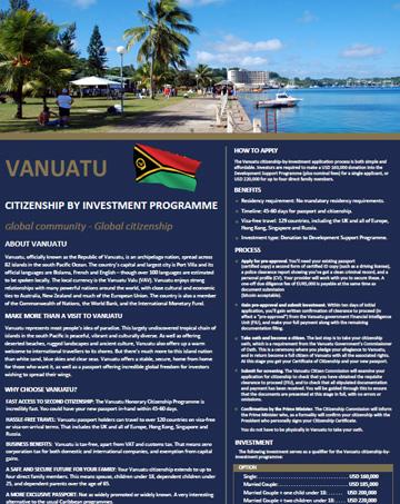VANUATU Citizenship by Investment Program Requirements
